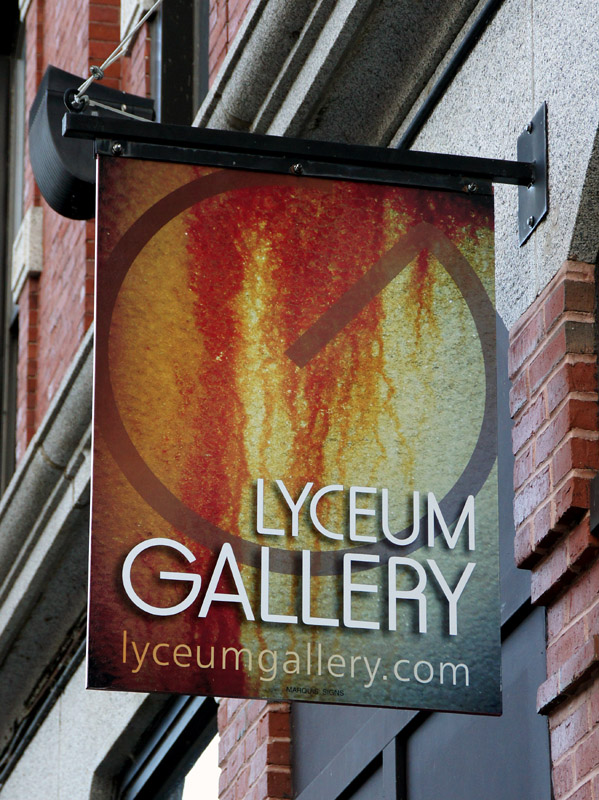 printed vinyl graphics for lyceum gallery of Lewiston, Maine
