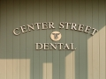 cast bronze letters for Center Street Dental of Auburn, Maine