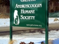 architectural sign for Humane Society of Lewiston, Maine