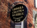 linnell-choate-webber carved sign