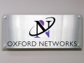oxford networks metallic sign