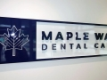 "PVC sign with 3/4"" letters and logo, and custom color match"