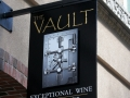 dimensional painted sign for The Vault Wine Shop of Lewsiton, Maine