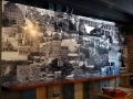 Vinyl print wall mural at Sonder & Dram bar in Lewiston