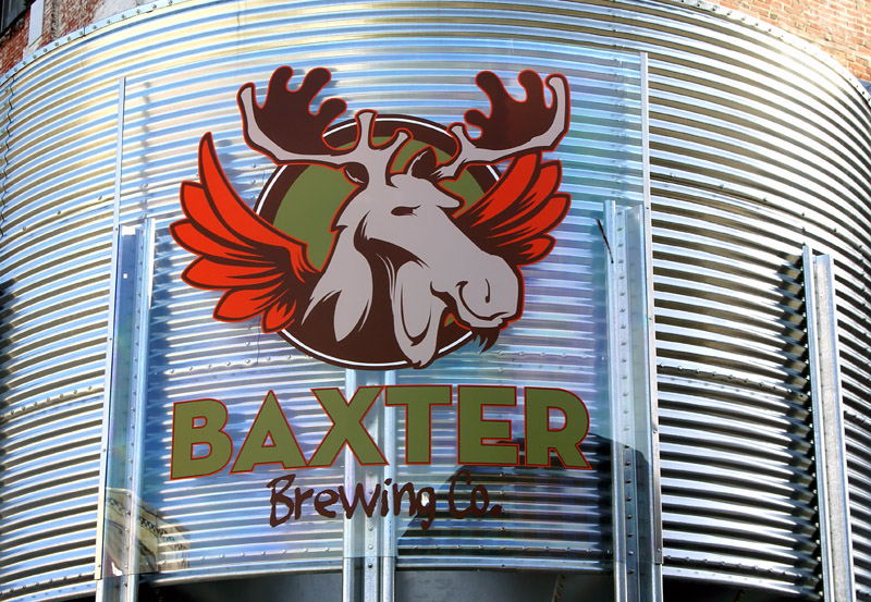 acrylic sign for Baxter Brewing of Lewiston, Maine