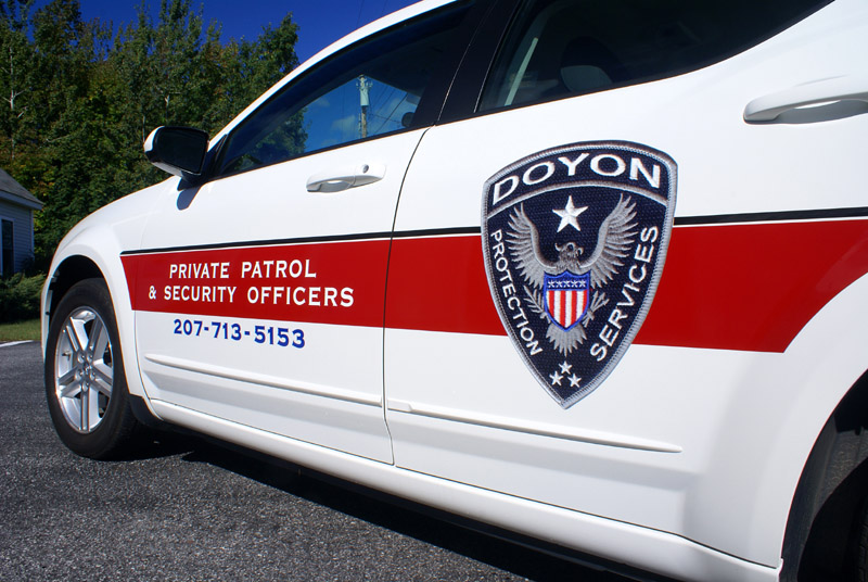 vinyl graphics on doyon protection car