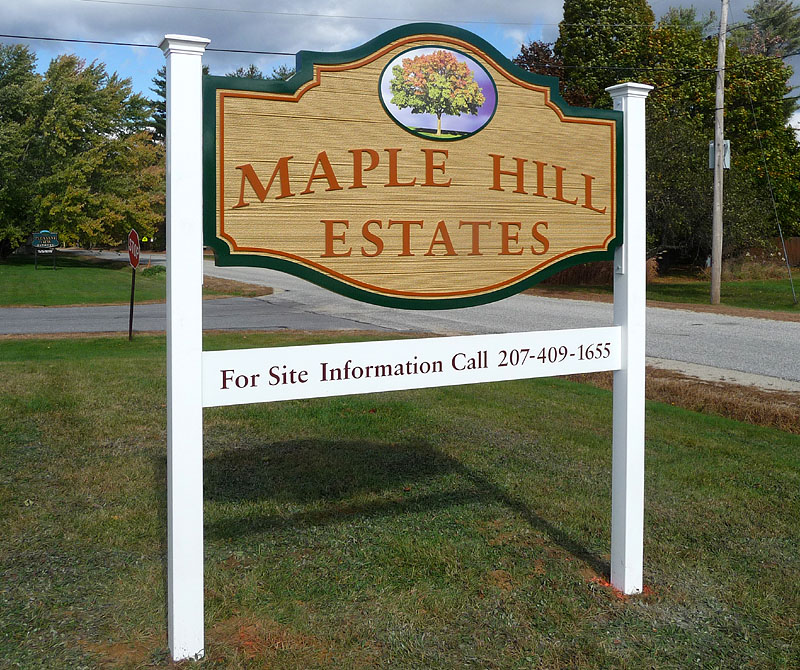 sandblasted-sign-Maple-Hill-Estates