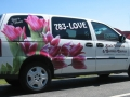 van lettering for Blais Flowers of Lewiston, Maine