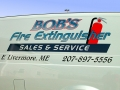 van lettering for bobs-fire-extinguisher of Auburn, Maine