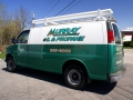 van lettering for Murray Oil of Turner, Maine