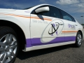 car lettering for Oxford Networks of Buckfield and Lewiston, Maine