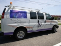 van lettering for Oxford Networks of Buckfield and Lewiston, Maine