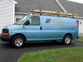 van lettering for Nason Mechanical of Auburn, Maine