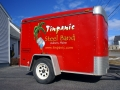 trailer lettering for tinpanic steel drum band of Auburn, Maine