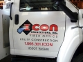 Truck door lettering for Icon Connections of New Gloucester, Maine