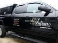 Vinyl lettering of Electrical Soultions truck