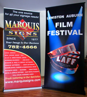 Full color printed retractable banners