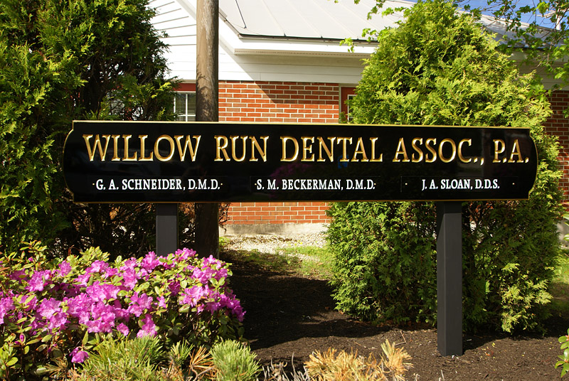 Carved Sign for Willow Run Dental
