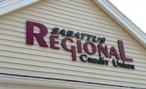 pvc letters for Sabattus Credit Union ib Sabattus, Maine