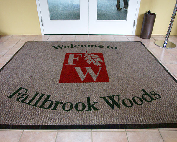 carpet with woven in logo