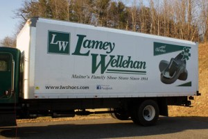 Vinyl and printed graphics on Lamey Wellehan truck